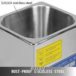 VEVOR Digital Ultrasonic Cleaner 10L Timer Heater Stainless Steel Cotainer UK