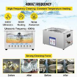 VEVOR Digital Ultrasonic Cleaner Ultrasonic Cleaning Machine 30L Stainless Steel