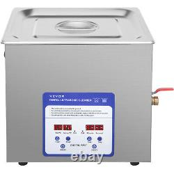 VEVOR Ultrasonic Cleaner 10 L Stainless Steel Industry Heated Digital Control
