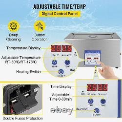 VEVOR Ultrasonic Cleaner 30 L Stainless Steel Industry Heated Digital Control